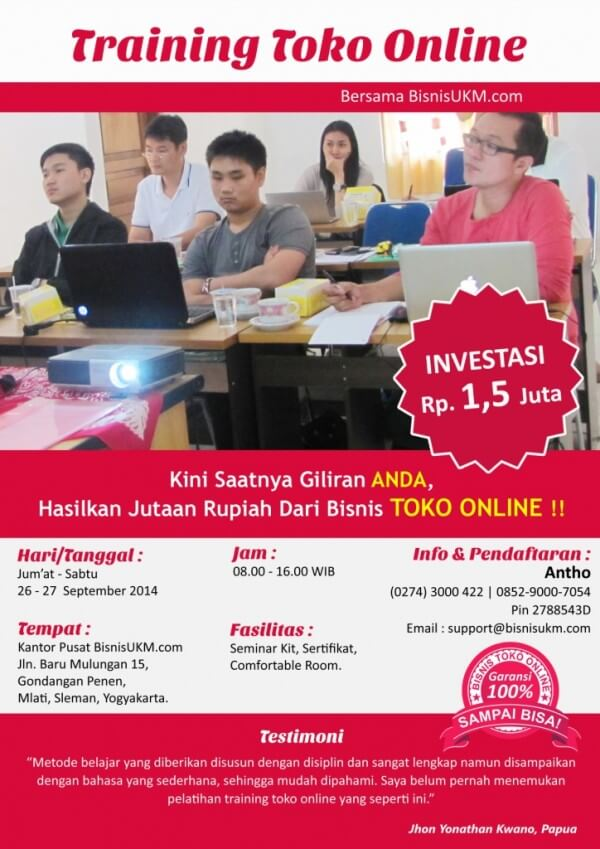 Training toko online September 2014