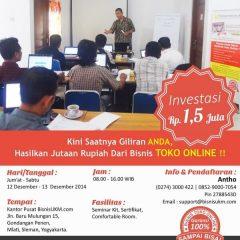 Training toko online angkatan Desember 2015