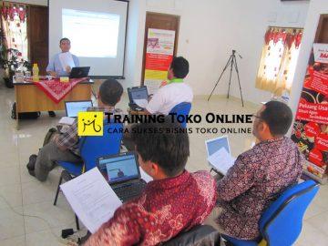 Training toko online bersama Bapak Sri Jabat Kaban