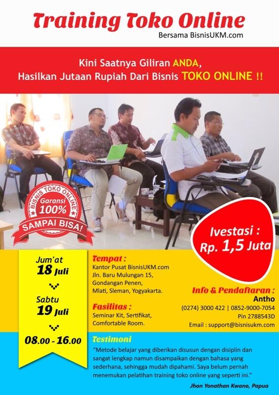Training toko online Juli 2014